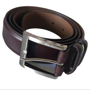 Allen Edmond Men Calfskin Brown Soft Leather Belt